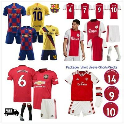 19/20 Football Kits Soccer Suits Adult Boys Training Sport Jersey Strip Outfits