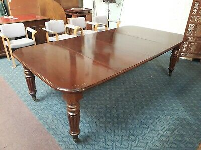 Stunning large Victorian extending mahogany dining table. Sits 10-12 people.