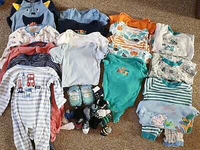 12-18 Month Sleepsuits, Pyjamas, Vests & Socks Bundle