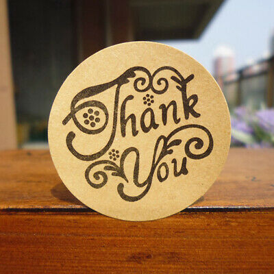 120pcs Round Thank you Self-Adhesive sticker Paper Labels Seal Stick~GN