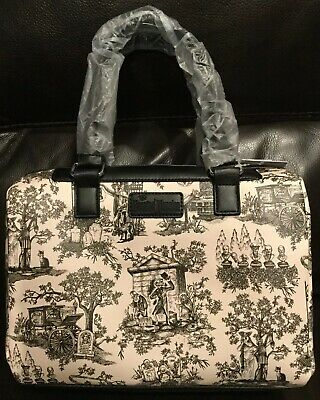 NWT Disney Parks Haunted Mansion Toile Satchel Purse EXCELLENT GHOST PLACEMENT A