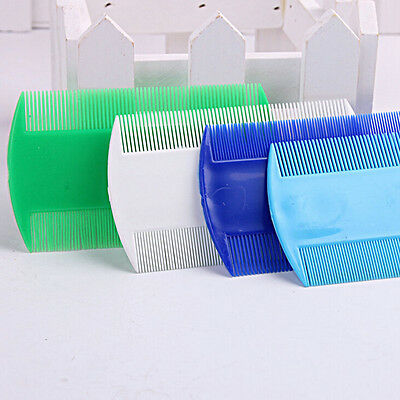 3x Pet Plastic Head Lice Removal  Comb Durable Double Side Nit Comb Usefu~GN