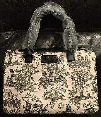 NWT Disney Parks Haunted Mansion Toile Satchel Purse EXCELLENT GHOST PLACEMENT B