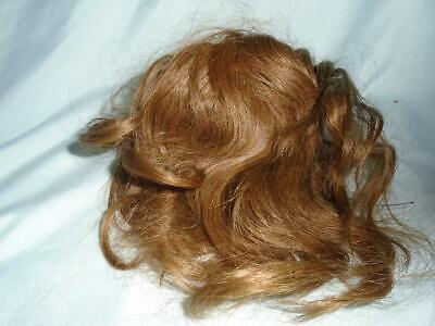 Antique Bisque Doll or Vintage Doll WIG Cheveux Naturels French Human Hair