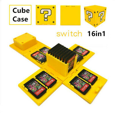 Game case for Switch Nintendo cartridge card 16 in 1 storage box Yellow Fold