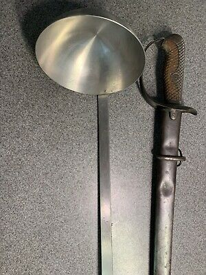 """WW2 USMC 1944 L&G MFG 27"""" stainless steel mess RARE LADLE FOR COFFEE OR STEW"""