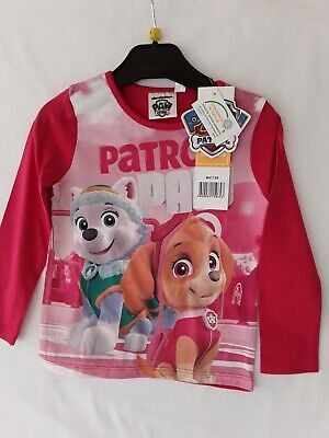 Disney long sleeve T shirt pink paw patrol size 3yr and 6yr