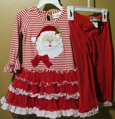 Rare Editions Christmas Toddler.Rare Editions Infant Toddler Girls 24 Mo 2 Pc Set Xmas