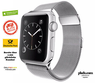 MEGA SALE: Apple Watch SERIES 5 (44mm) MILANAISE Armband SILBER | Nur Band