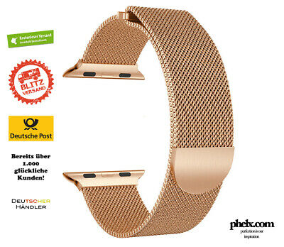 Apple Watch SERIES 5 (44mm) MILANAISE Armband GOLD | Nur Band
