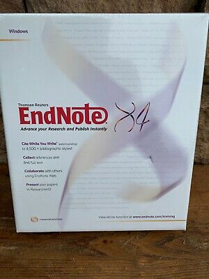 Endnote X4 Workstation for (Mac/PC Windows) Research Publishing Sealed New