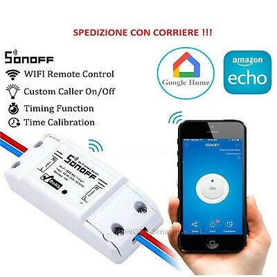SONOFF BASIC Domotica Wifi interruttore ALEXA GOOGLE SMART HOME WIRELESS TIMER