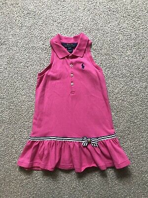 Ralph Lauren Real Designer Pink Polo Dress For Girls Age 2 Years ❤️❤️