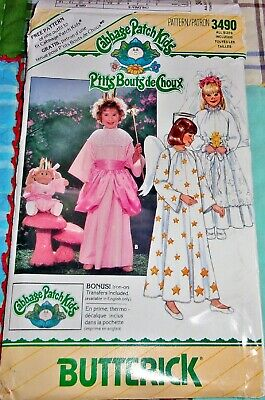 Butterick Pattern 3490 Cabbage Patch Kids Bride Angel Fairy Costume Doll 4-14 FF