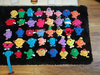 Complete loose set of 40 McDonald's Little Miss and Mr men soft toys 1999