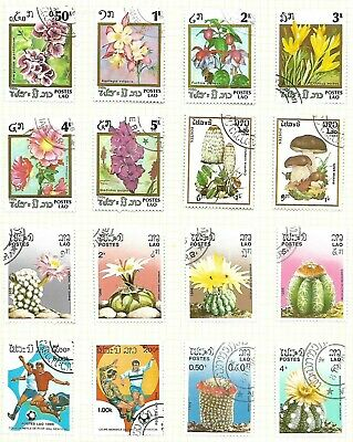 LAOS A selection of (16) stampsof 1986 all used in excellent condition, see scan