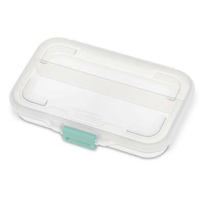 Sterilite Small Clear Divided Storage Container Box 1724 Supplies Sewing Crafts