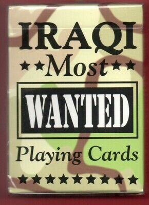 Authentic Iraqi Most Wanted Playing Cards Bicycle Hoyle Brand New-Still Wrapped
