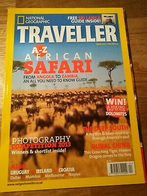 National Geographic Traveller Magazine *new* Apr 2013 Issue. African Safari