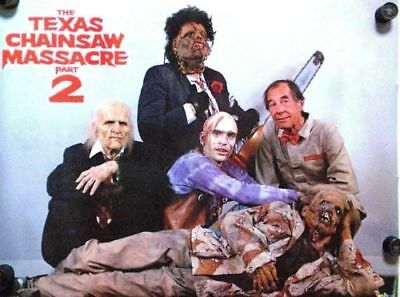 Texas Chainsaw Massacre Poster Part 2 Leatherface Bill Mosley Vintage 1986