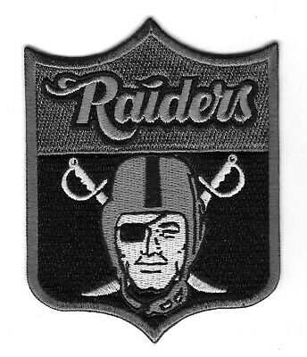 OAKLAND RAIDERS NFL Shield Raider Nation for Life Football Iron-on Jersey PATCH