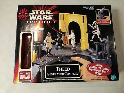 Star Wars 1999 Episode I Theed Generator Complex Droid Action Figure New
