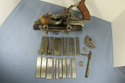 Vintage Wards Master Quality TRADE 45 MARK Combination PLANE with 18 Cutters