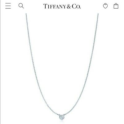 Tiffany & Co Elsa Peretti Diamond By The Yard Sterling Silver Necklace