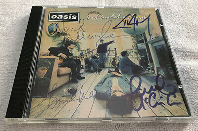 Oasis Definitely Maybe Signed CD Liam Noel Gallagher Autographed
