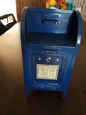 USPS Post Office Coin Bank Vintage Brumberger Mail Box Change Box USA