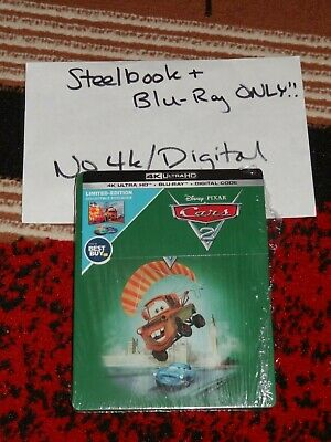 Blu-ray Cars 2 STEELBOOK + Blu-ray ONLY! Disney Best Buy Exclusive