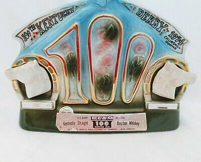 Jim Beam 100th Anniversary Kentucky Derby Churchill Downs Decanter Bottle