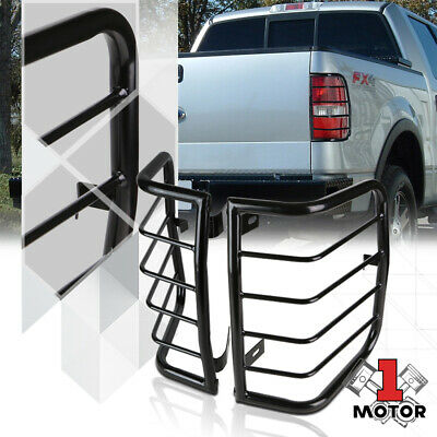 Black Stainless Steel Tail Light//Lamp Guard Protector for 05-16 Nissan Frontier