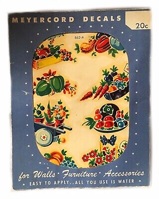 Vintage 1940's Meyercord Decals Furniture Wall Decal 862-A
