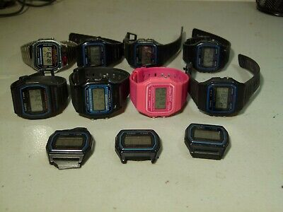 11X Mens Casio F 91W F 28W F 105 A 168 Digital Quartz Watches Black Running