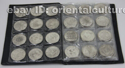 Tribal exotic chinese handmade miao silver circle collections 72pieces