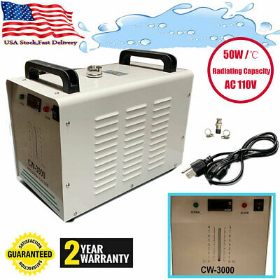9L CW-3000DG Industrial Water Chiller 50W/℃ for CO2 Glass Laser Tube Engraver US