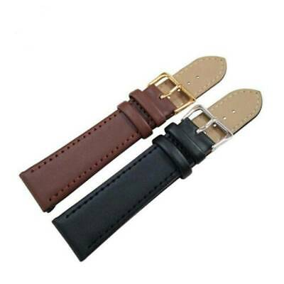 Classic Genuine Leather Wrist Watch Strap Band Women Men Size 12-24mm Strap Belt