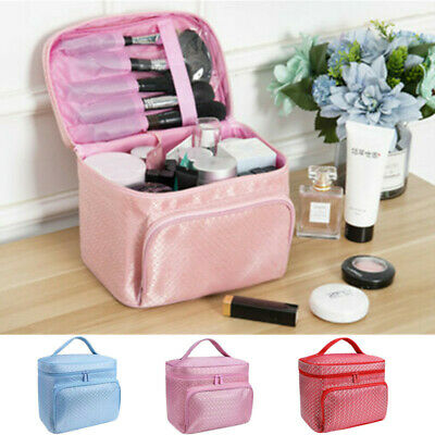Lady Large Make Up Bag Vanity Case Cosmetic Nail Tech Storage Beauty Box Pouch