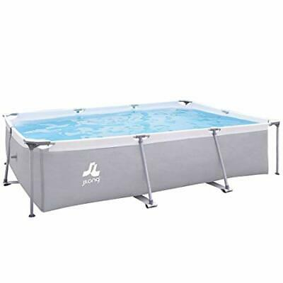 JILONG XL - Piscina Familiar de Acero, 3 x 2 m, Color Gris
