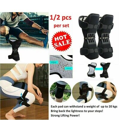 1/2x Power Knee Stabilizer Pads Powerful Rebound Spring Force Lift Joint Support