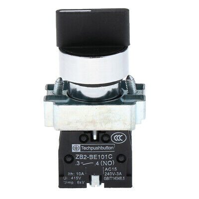 3 Position 2NO Maintained Selector Switch Self-Locking Spring Return Switch