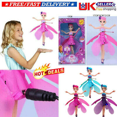 Flying Fairy Princess Dolls Magic Xmas Gift Infrared Induction Control Toy UK