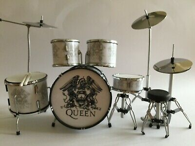 Miniature Drum Kit - QUEEN - ROGER TAYLOR - Birthday Music Gift