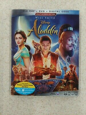 Aladdin: Live Action (Bluray/DVD/Digital/Slipcover) Brand New MSE Will Smith
