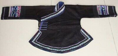 Tribal exotic chinese minority people's old hand embroidery costume jacket