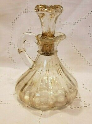 Small Antique Crystal Cut Pitcher with Lid