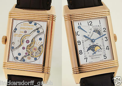 JAEGER LECOULTRE REVERSO NIGHT & DAY - GRAND TAILLE - REF 270.2.63 18ct ROTGOLD