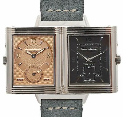 Jaeger LeCoultre Reverso Grand Taille Night & Day 18ct Weißgold - Ref. 270.3.54