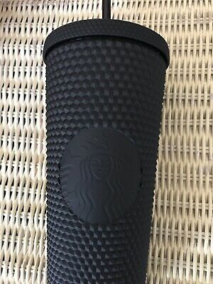 NEW Starbucks Fall 2019 MATTE BLACK STUDDED TUMBLER CUP MUG 24oz LIMITED EDITION